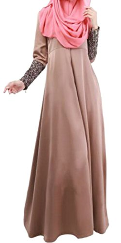 Womens Arabia Turkey Dress Malaysia Hem Coffee Saudi Islamic Big Middle Muslim Cromoncent East BwqSFxRYdS