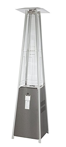 Golden Flame 46,000 BTU (XL-Series) Matte-Mocha Patio Heater with Wheels