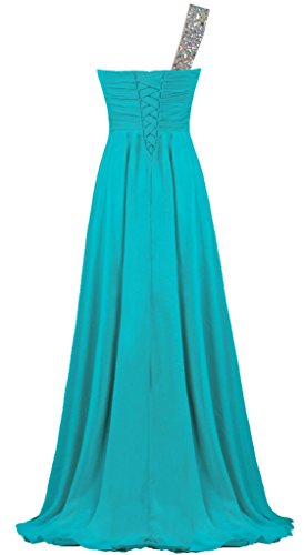 Gown Dress Crystal Long Evening Shoulder Chiffon Prom ANTS Jade One Women's xZzwqSgY1