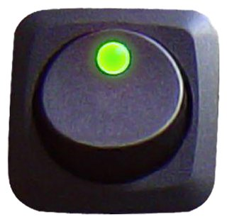 Keep It Clean 10862 Green 25 Amp/12V Square Framed LED Rocker Switch