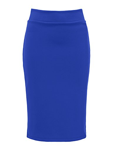 regna-x-for-women-stretchy-formal-georgous-blue-x-large-pencil-back-slit-midi-skirt