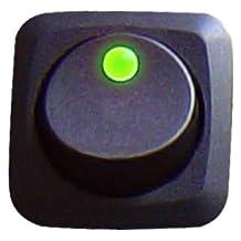 Keep It Clean 10862 Green 25 Amp/12V Square Framed LED Rocker Switch