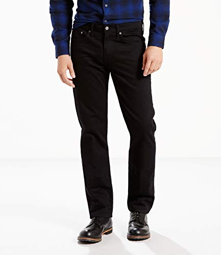 Levi's Men's 514 Straight fit Stretch Jean, Black, W36x36L