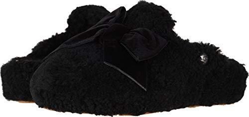 UGG Women's W Addison Velvet Bow Slipper, Black, 8 M US
