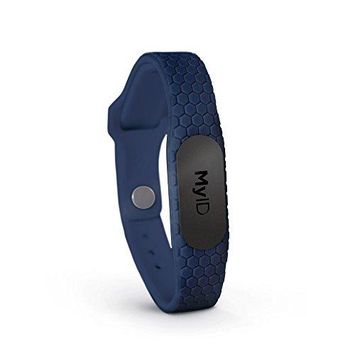 MyID Hive Medical ID- Stealth Pod, Sport ID, Child ID, Emergency ID, Diabetes Wristband, (Navy M/L)
