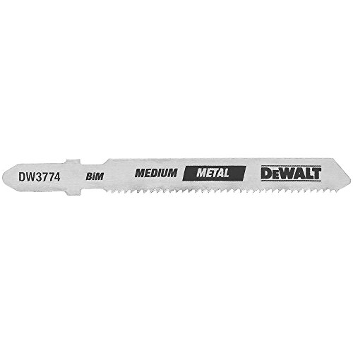 DEWALT DW3774-5 3-Inch 18TPI Medium Metal Cut Cobalt Steel T-Shank Jig Saw Blade (5-Pack) ()
