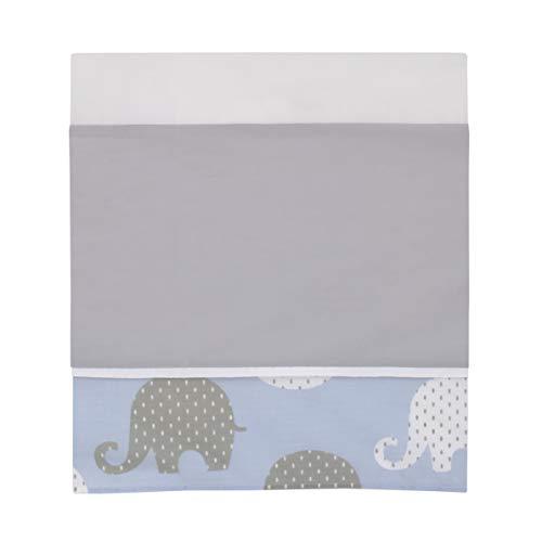 NoJo Elephant 4 Piece Nursery Crib Bedding Set, Blue/Grey/White