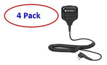 Motorola HKLN4606 External Speaker Mic (4 Pack)