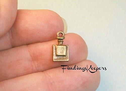 Pendant Jewelry Making 16 Bottle Charm, Perfume Bottle, Drink Me, Antique Bronze Tone 13 x 7 mm