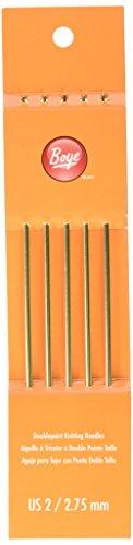 Boye 2/2.75mm Double Point Aluminum Knitting Needles, 7