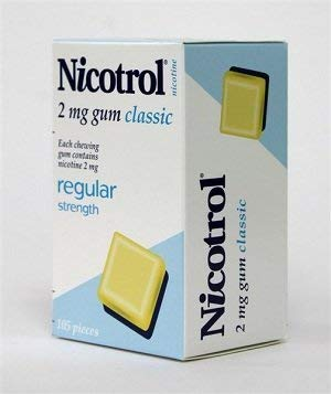 Nicotrol Nicotine Gum Original Classic Flavor 2 Boxes 210 Pieces 2mg
