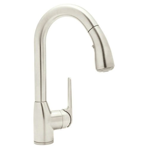 Rohl R7506SPN-2 De Lux Bar Faucet with Pull Out Spray and Metal Lever Handle, Polished Nickel by Rohl