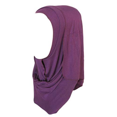 HYIRI Muslim Women Ramadan Pure Color Shawl Scarf Head Cover Headscarf Muffler -