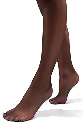 sofsy Suspender Tights Garter Belt Pantyhose Mock Stockings 20 Denier [Made in Italy] Black 4 - Large
