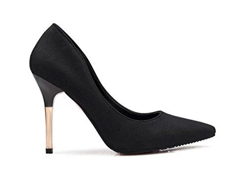 Printemps 38 coréenne à hauts Sexy Shallow et Noir LBDX mouth automne talons Version Couleur Pointé simples Chaussures taille Rose Chaussures UOdnIqxP