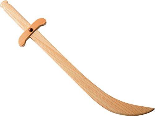 J.G.Schrödel Krummsäbel: Holzsäbel für Ritter- und Piratenspiele, aus Robustem Echtholz, Ideale Faschings- und Mittelalterausrüstung, 50 cm, hellbraun (980 0112)