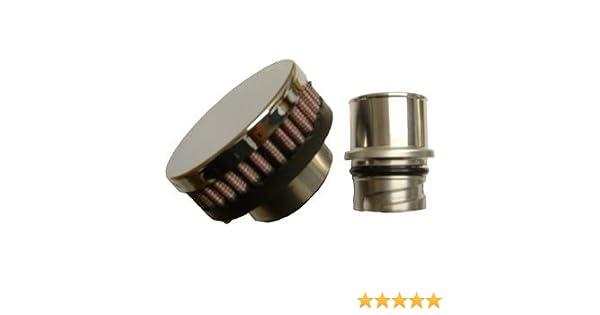 CFM Performance 1-0201-0 Billet Baffled Valve Cover Breather Oil Cap LSx  LS1 LS2 LS3 LS6 LS7 (Chrome)