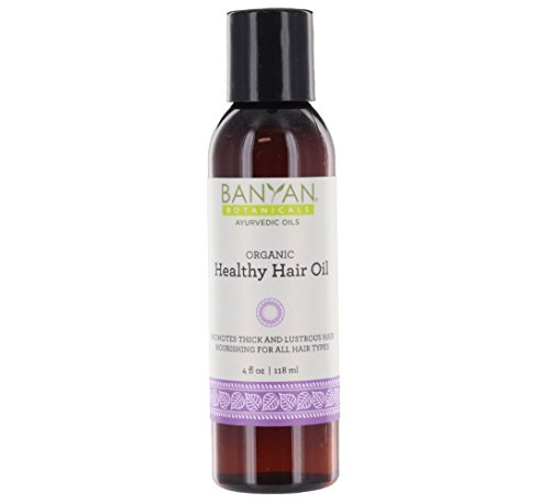 Banyan Botanicals Healthy Hair Oil - USDA Organic, 4 oz - Nourishing Herbal Oil for All Hair Types & Scalp Massage (Best Ayurvedic Medicine For Grey Hair)