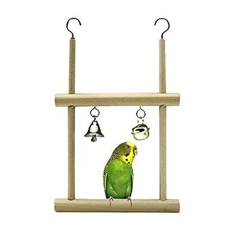 TickTocking Percha para pájaros con Espejo para Loro, paracaídas ...