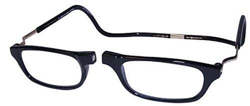 Around Closure - CliC Magnetic Closure Reading Glasses XXL with Adjustable Headband Black 1.75