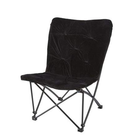 Decorative and Comfortable Quad Folds Compactly Fur Butterfly Chair, (Black)