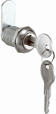 Prime-Line Drawer And Cabinet Lock Ka 7/8'' Cam Lock Fits 9/16'' T Panels 1 Lock Ss by Prime Line (Image #1)