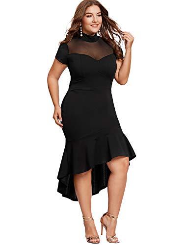 Valentine Plus-Size Round Neck Dresses