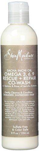 Omega Repair 3 (Shea Moisture Sacha Inchi Oil Omega-3-6-9 Rescue & Repair Co-Wash Cleanser & Condition for Unisex, 8 Ounce)