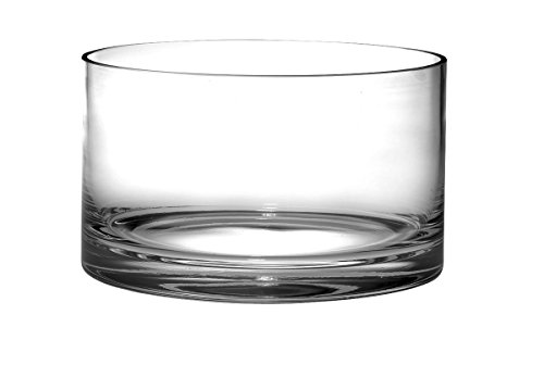 "Barski - European Quality Glass - Handmade - Thick Straight Sided Salad Bowl - 10 "" Diameter - Superb Quality - Made in Europe"