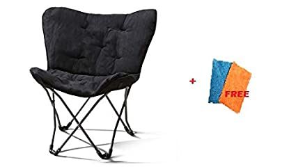 Astonishing Mainstay Butterfly Chair Folding Butterfly Black Microsuede Free Cleaning Fabric Cloth Machost Co Dining Chair Design Ideas Machostcouk