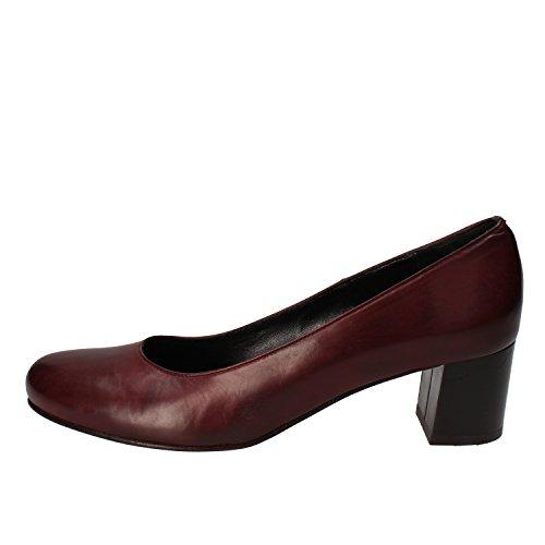 Calpierre - Zapatos de vestir de Piel para mujer violeta burdeos