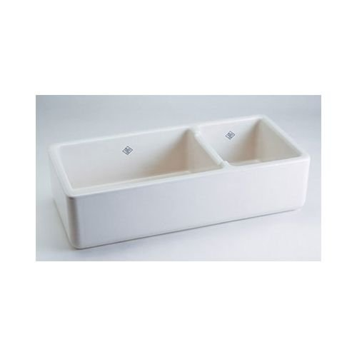 Attractive Rohl RC4019WH 39 1/2 Inch By 18 1/2 Inch By 10 Inch Deep Shaws Rutherford  Plain Apron Front Fireclay Kitchen Sink, White   Double Bowl Sinks    Amazon.com