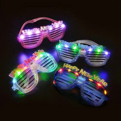 Happy New Year LED Slotted Sunglasses (1 Per - New Sunglasses Year's
