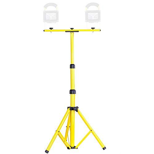 YesHom Adjustable Tripod Stand for LED Flood Light Telescoping Steel Floodlight Stand Camp Work Emergency Lamp by Yeshom (Image #3)