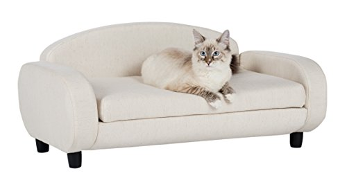 Paws & Purrs Pet Upholstered Sofa Bed, Oatmeal