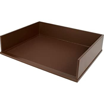 victor wood mocha brown collection letter tray brown b1154