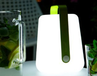 RECHARGEABLE LED LANTERN GREEN by Balad h 25 cm -10'' (Image #1)