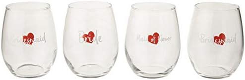 Bridal Glasses Bridesmaid Stemless Bachelorette