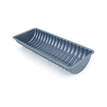 Fox Run Brands 44515 Non-Stick Carbon Steel Rehrucken/Almond Cake Loaf Pan, 4.75 x 12.25 x 2, Metallic