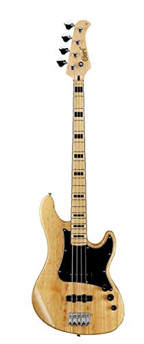 Cort GB Series GB54JJ 4-String Electric Bass Guitar, Natural (Electric Bass Natural Guitar)