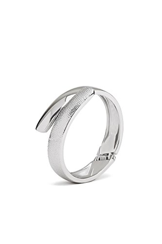 Hinged Cuff Bracelet Wrap Around Bangle Snake Shape High Polish Metal Wristband (Crossover Bangle Bracelet)