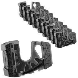 10-Pack Wedge-It Ultimate Door Stop - Black