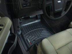 WeatherTech Custom Fit Front FloorLiner for Ford F-150 (Black) (Weathertech Floor Mats 2014 F150 compare prices)