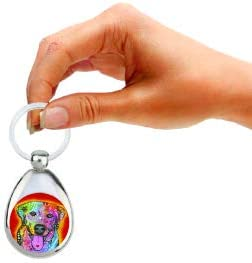 Double Sided /& Chrome Finish Features The Pop Art of Dean Russo Enjoy It Lab Keychain