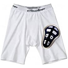Close-Out Priced! Rawlings Compression Short with Cage Cup