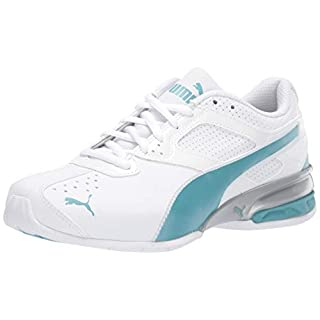 PUMA Women's Tazon 6 Sneaker, White-Milky Blue, 8.5 M US