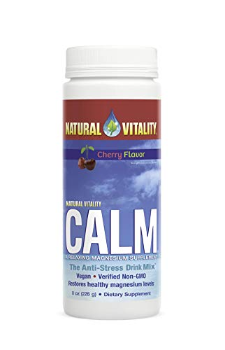 Natural Vitality Calm, The Anti-Stress Dietary Supplement Powder, Cherry - 8 Ounce ()