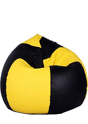 Ragstone Bean Bag Cover  Without Beans   XXXL, Yellow/Black