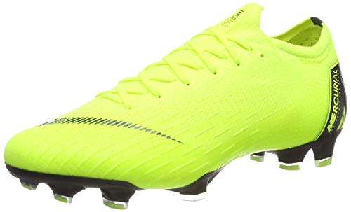 Nike Men's Vapor 12 Elite (FG) Firm-Ground Football Boot Volt/Black (6.5 Mens US)