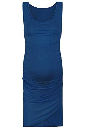 aa6e097b44b3b Rnxrbb Women's Sleeveless Maternity Dress Ruched Side Bodycon Maternity  Tank Dress Mama Clothes